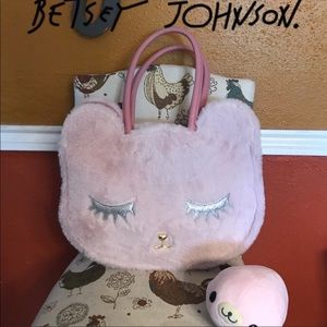 Betsey Johnson Furry Kitty Tote